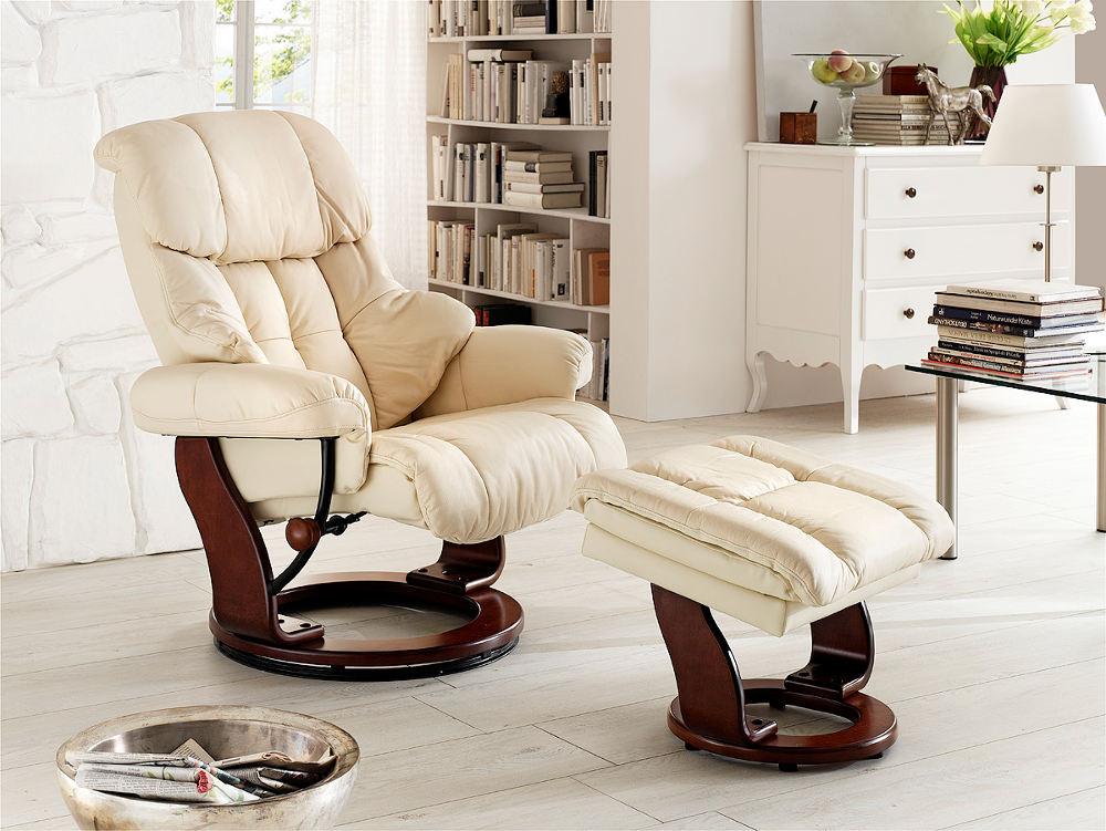 fotel relaksacyjny skórzany